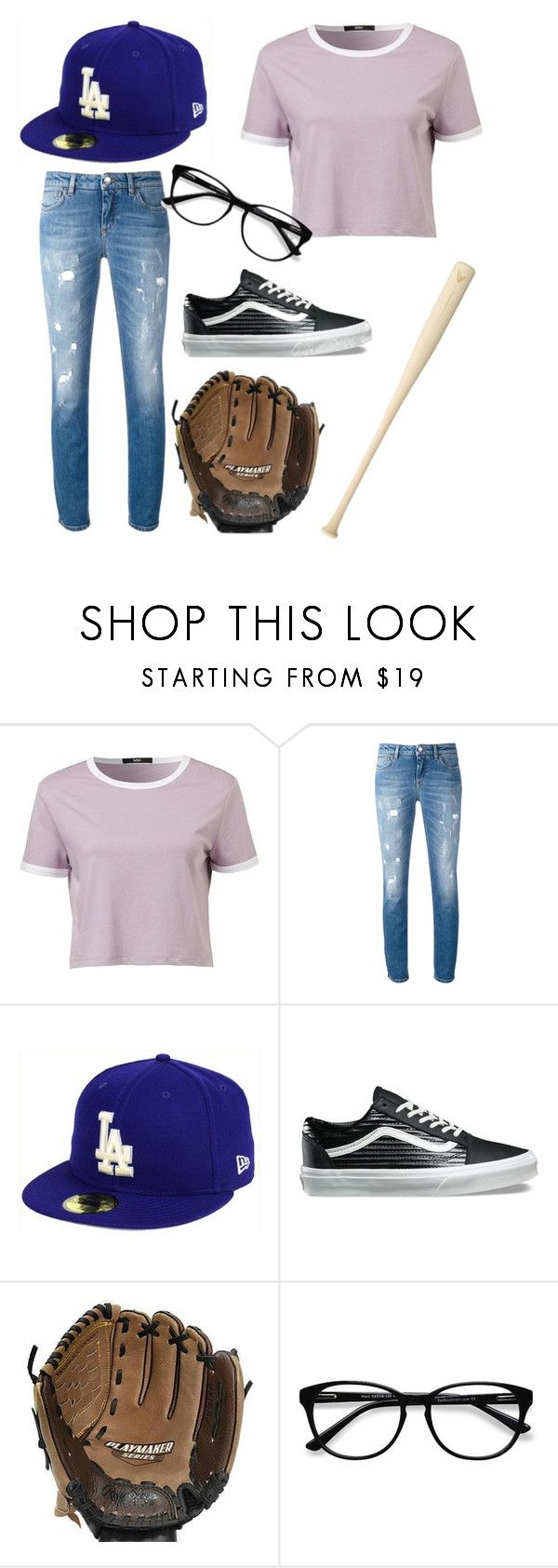"""The Sandlot #2"" by freckled-skyline on Polyvore featuring Dolce&Gabbana, New Era, Vans, EASTON, Rawlings and EyeBuyDirect.com"