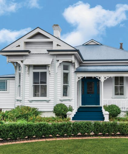"For Federation homes, Taubmans colour creative director Shaynna Blaze advises playing off the romantic and nostalgic feel of the exterior with a gentle palette that highlights the unique trims and roof lines. ""The use of blue as an accent colour, contrasted against white and soft greys is a great way to create this exterior mood,"" she says. ""Whenever you're painting the exterior of your home it's always important to complement the style of your house and highlight any unique architectural…"