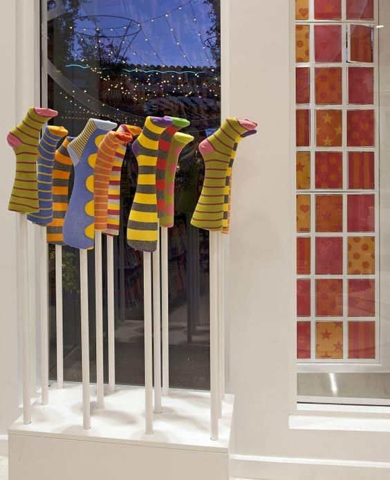 Best looking Sock and Hosiery Displays for Store Windows  To read the full article, click here... http://blog.mannequinmadness.com/2017/06/best-looking-sock-hosiery-displays-store-windows/