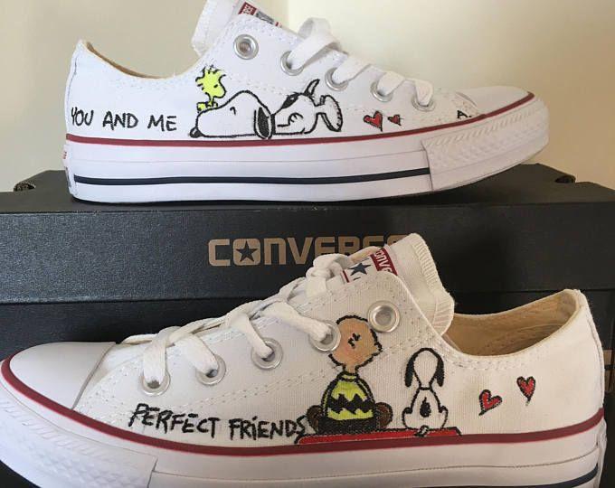 Converse All Star Snoopy sneakers, peints à la main, personnalisé Snoopy