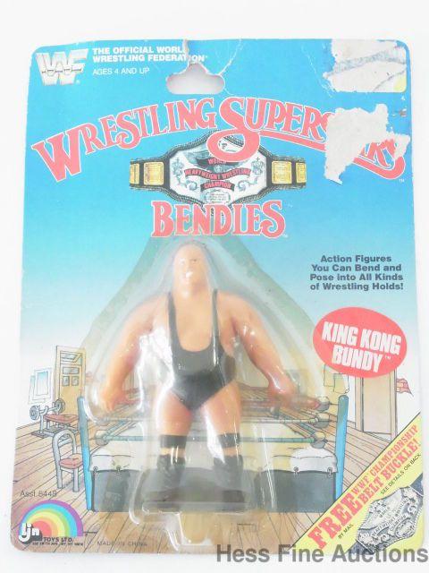 Vintage 1987 NEW Ljn WWF Wrestling Superstars Bendies King Kong Bundy Toy CBX