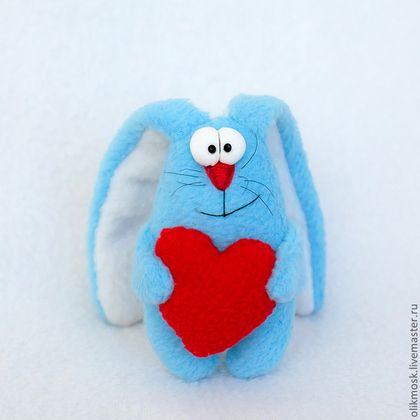 Подарки для влюбленных ручной работы. Ярмарка Мастеров - ручная работа. Купить заяц-валентинчик. Handmade. День Святого Валентина