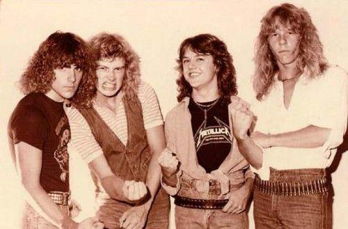Ron mcgovney, Dave Mustane, Lars Ulrich, Papa Het