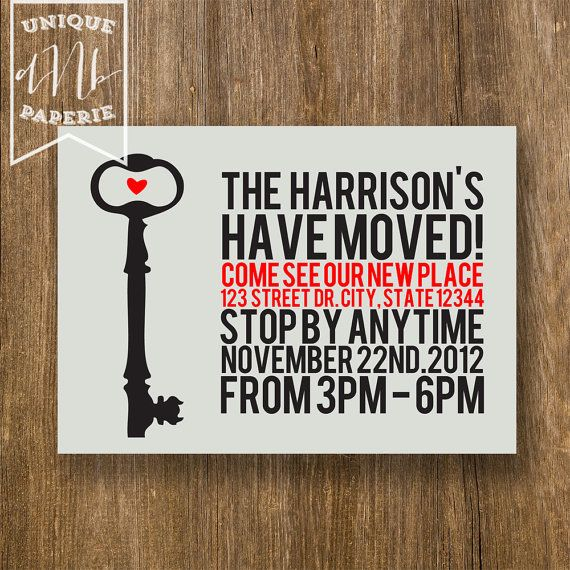 Key Cameo /// Modern Housewarming Invitations by designsbynicolina, $24.75