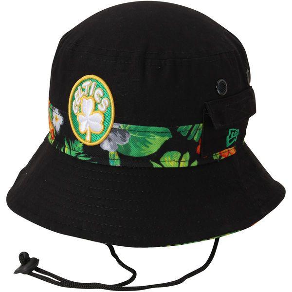 Men's Boston Celtics New Era Black Branded Floral Bucket Hat, Your Price: $29.99
