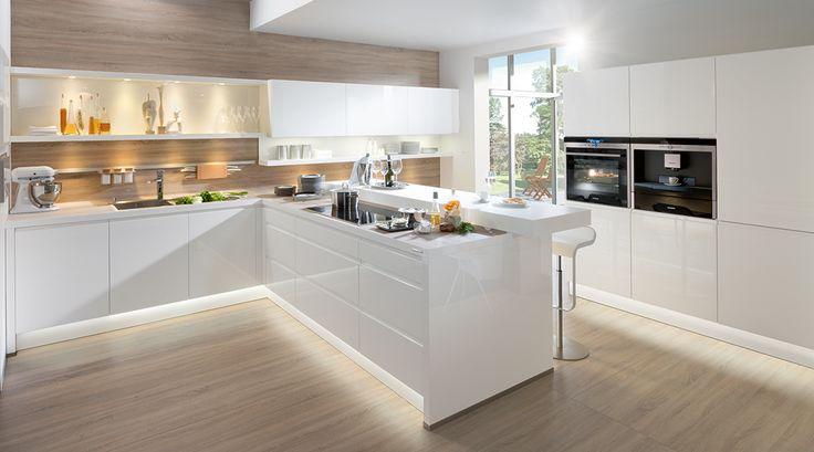 Ideeen Voor Muur Keuken : Hoogglans wit gelakte keuken - Ideeën voor ...