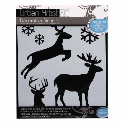 Urban Artist Christmas Stencil Reindeer