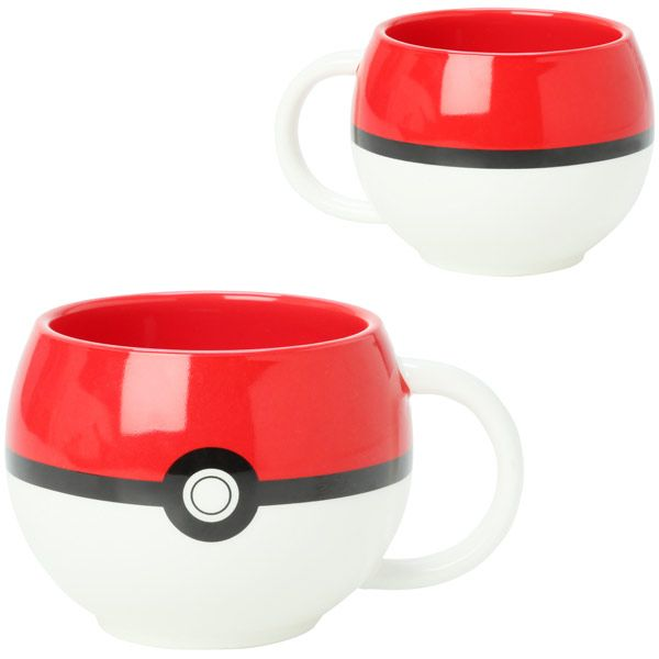 Pokemon Poke Ball Figural Mug will let you do both.    It looks just like a Poke Ball, but don't throw it to try to catch a creature, because you will just hurt your mug. Who knows, maybe it will