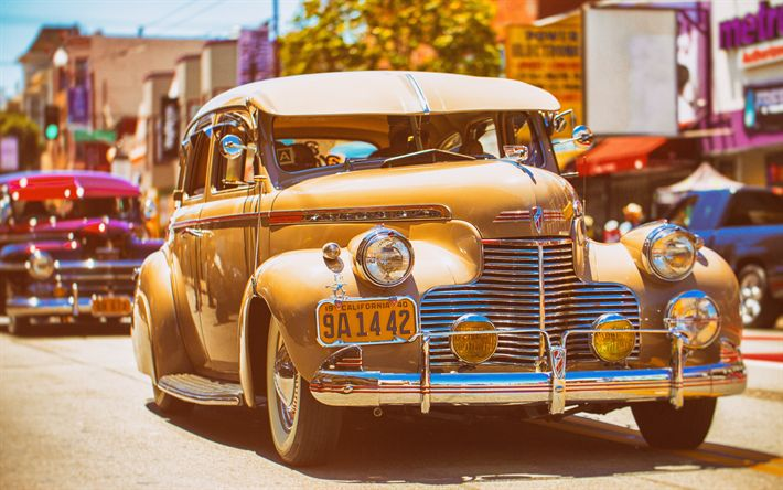 Download wallpapers Chevrolet KA, 1940, retro cars, Cuba, old vintage cars, Master, Havana, Chevrolet
