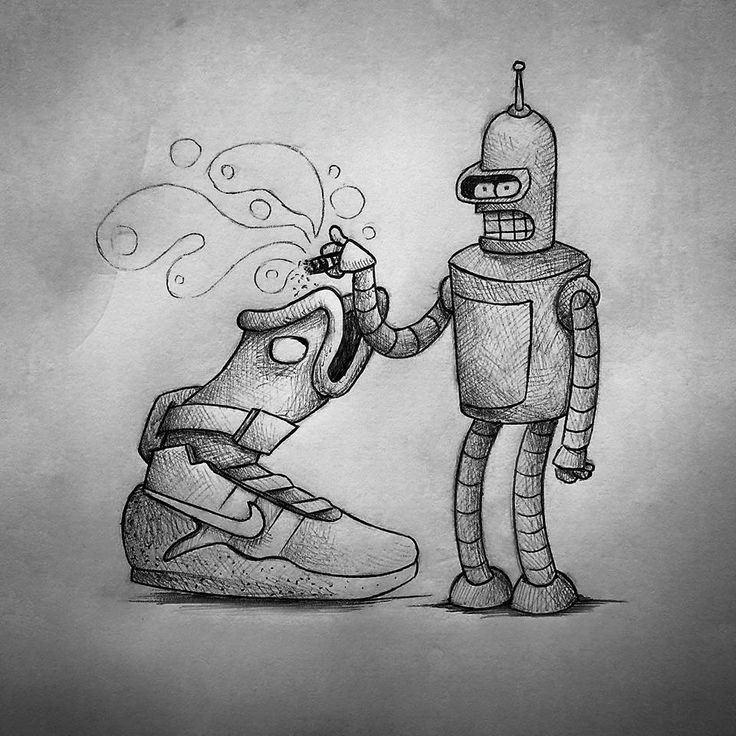 Guido Vitabile - Futurama - illustration - #inktober #inktober2015 #inktobersonry #massoneriacreativa - www.massoneriacreativa.com