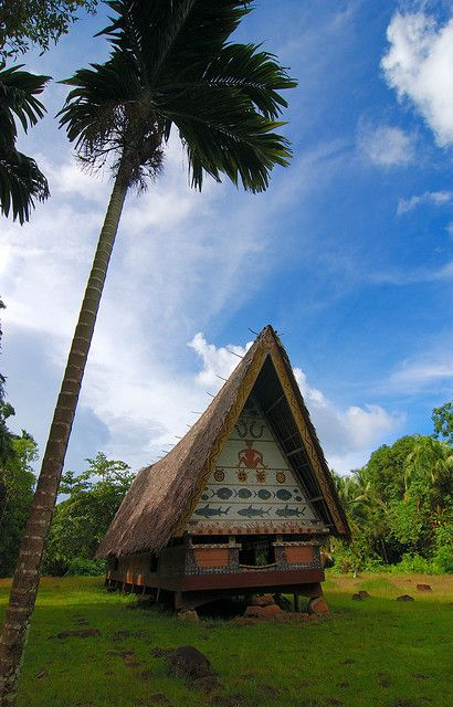 OCEANIA A traditional bai, or meeting house, on the Palau's largest island, Babeldaob