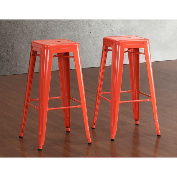 Tabouret 30-inch Tangerine Metal Bar Stools (Set of 2)  sc 1 st  Pinterest & Best 25+ 30 inch bar stools ideas on Pinterest | 30 bar stools 26 ... islam-shia.org