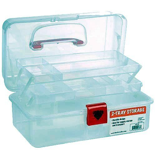 Artist Essential 12 Inch Plastic Art Supply Craft Storage