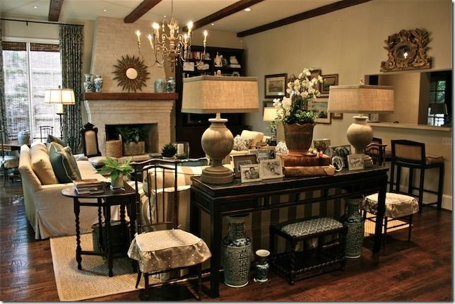 love all of the weight and black added to this neutral room