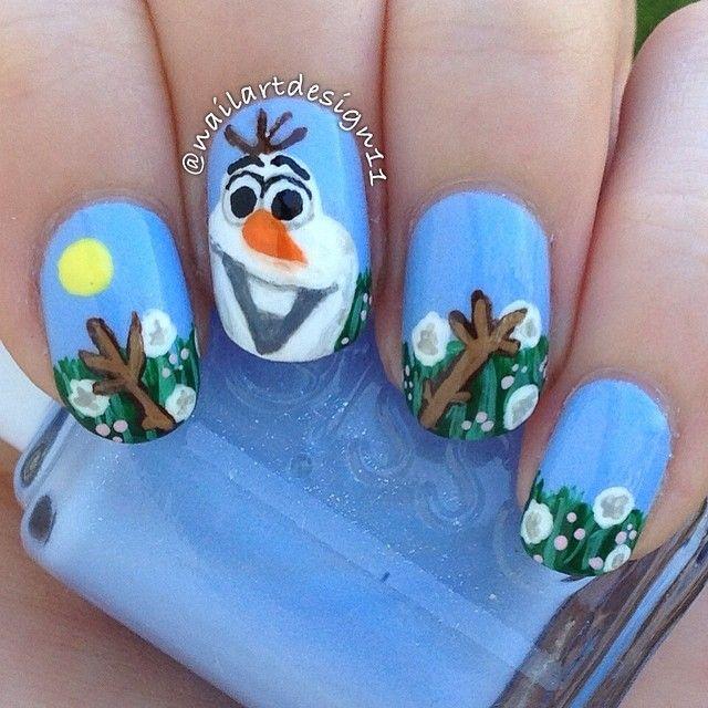 Olaf Frozen Movie By Nailartdesign11 Nail Nails Nailart Nails Nail Art Olaf Frozen