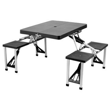 Check Out This Item At One Kings Lane! Portable Picnic Table Set, Black