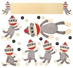 Sock Monkeys Bulletin Board Set - Go bananas #teaching in a #classroom setting full of appealing and fun-loving Sock Monkey resources. Find every decorating and organizing need for a successful Sock Monkey makeover. This classroom theme will knock your socks off!