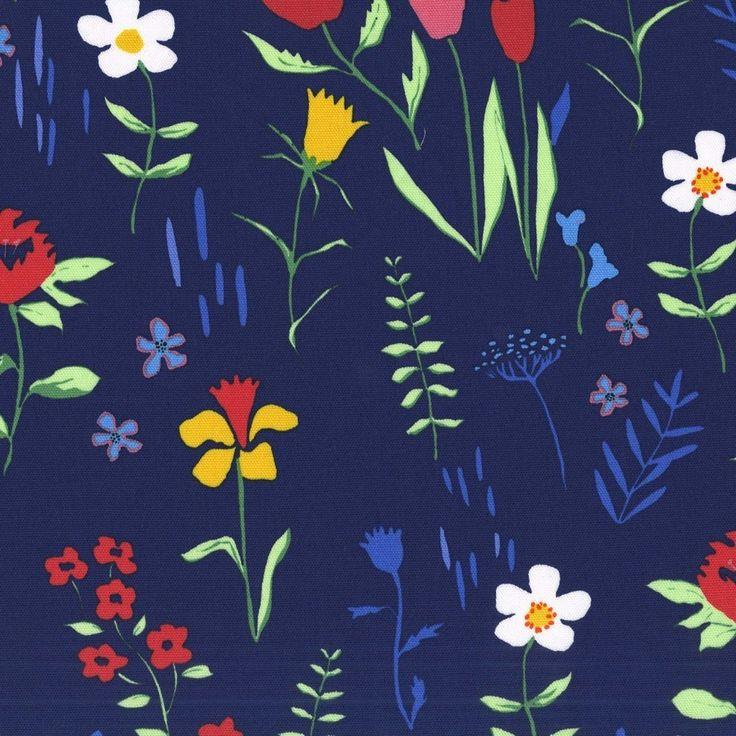 Floral Navy Blue - CANVAS