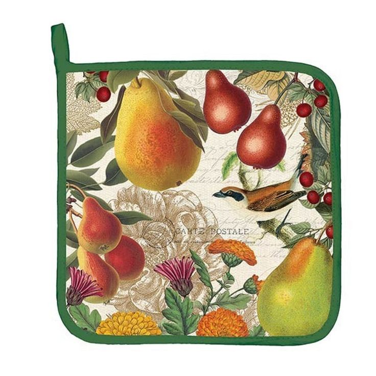 Incroyable Michel Design Works Golden PEAR 100 Cotton Kitchen Potholder With Hanging  Loop