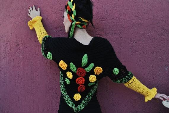 Frida Crochet shawl crochet headband crochet