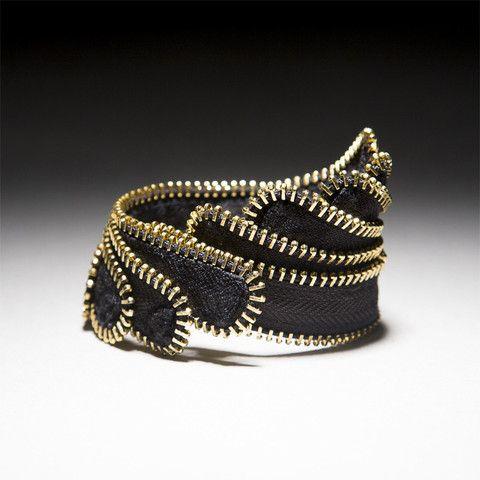 "Zipper Bracelet, ""Wing"" – Mora Designer Jewelry"