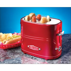 Best Buy Nostalgia Electrics - Retro Series Pop-Up Hot Dog Toaster - Red $24.99