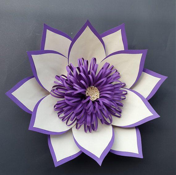 Paper flower centerpiece Bridal shower centerpiece Wedding