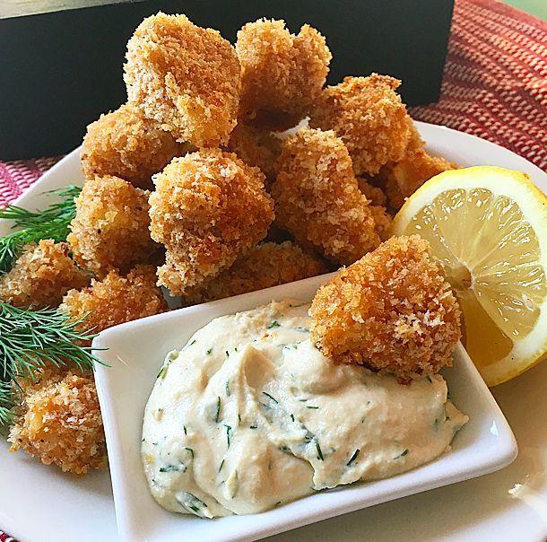 Oven Fried Popcorn Cauliflower Bites // Let's Be Vegan - Easy Vegan Recipes…
