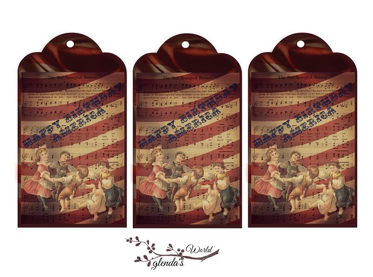 Happy Birthday America Tags Free-download