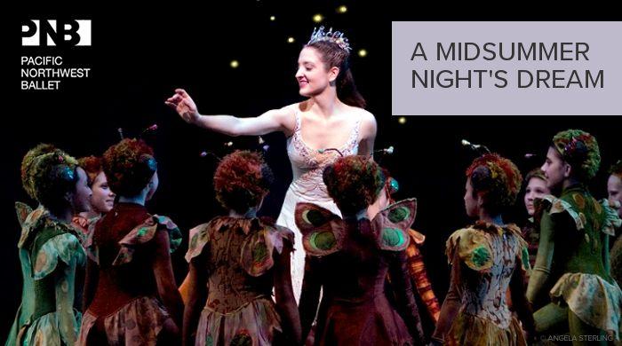 @Erin Ridler Northwest Ballet A Midsummer Night's Dream, April 11 - 19, 2014 at McCaw Hall.