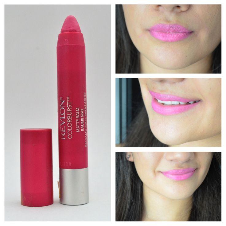 Mes rosa - Mis 10 labiales rosas favoritos - the makeup van  Showy Flamboyante- revlon matte balms The makeup van