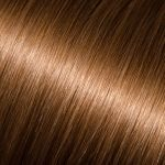 "16"" I - Link Pro Straight #8 (Light Chestnut Brown) Donna Bella Hair Extensions"