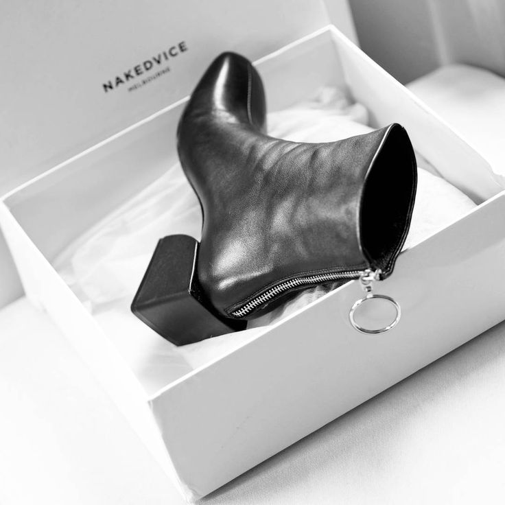 """146 Likes, 11 Comments - Gabriella Buzas (@epicstreetstyle) on Instagram: """"The coolest stuff from down under 👢 . ."""" @nakedvice Nakedvice Shanghai boot black leather grunge nineties style heels shoes shoeaddict shoelover winter cool fashion inspo wiw shopping"""