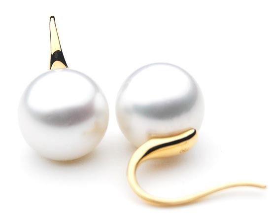 SE004 (AAA 11mm Australian South Sea Pearl Earrings in 18k Gold)
