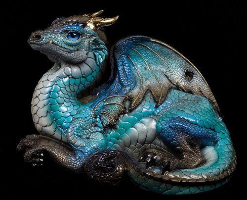 "Windstone Editions ""Sky Bronze 1"" Old Warrior Dragon Figurine Statue | eBay"