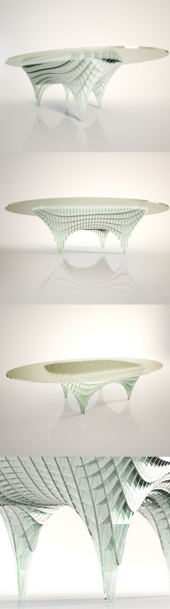"""Double Curvature Table"" designed by Diana Quintero de Saul. Know more on Desall.com!"