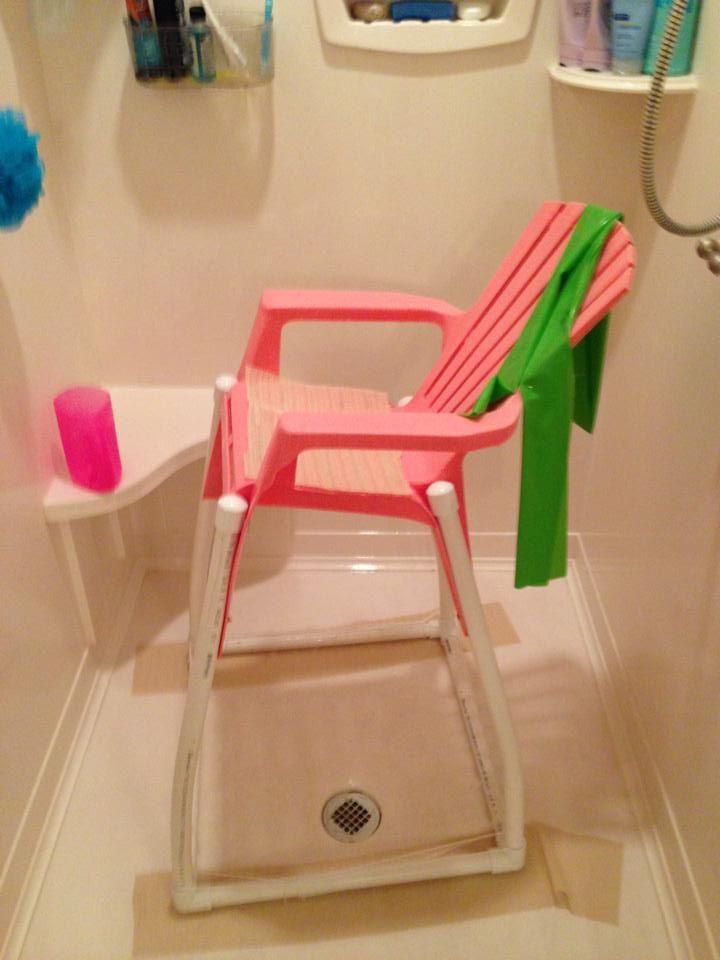 DIY bath chair by a family in Alabama.