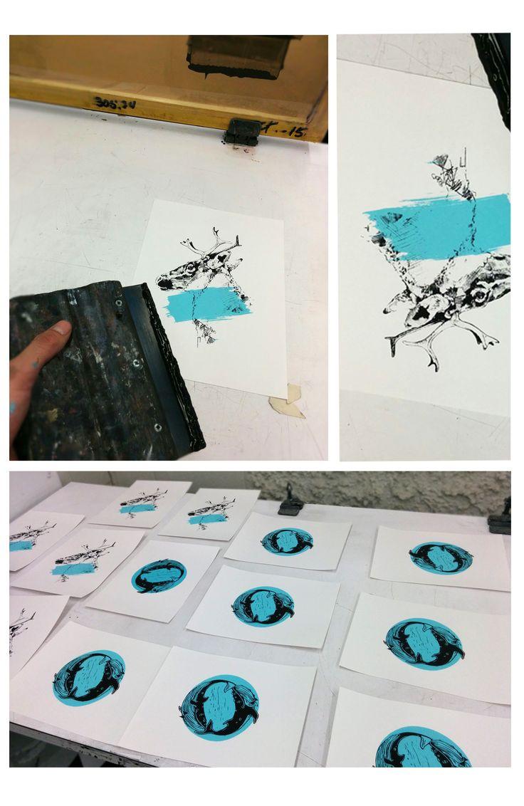 ScreenPrint Workshop. Many new things on the way. Marie-Eve Arpin - Art on Facebook https://www.facebook.com/MarieEveArpinArt/?ref=hl