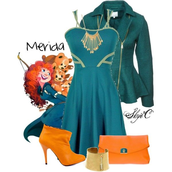 """Merida - Disney Pixar's Brave"" by rubytyra on Polyvore"