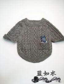 灰度 儿童时尚百搭棒针小外套