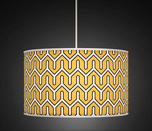 30cm Mustard Yellow Retro Geometric Handmade Giclee Style Printed Fabric Lamp Drum Lampshade Floor or Ceiling Pendant Light Shade 530 BeNeLux http://www.amazon.co.uk/dp/B00ONW4T44/ref=cm_sw_r_pi_dp_Xkbdxb05W2PND