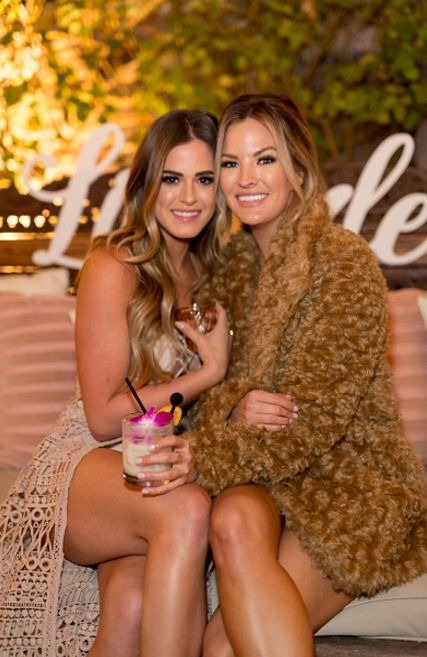 JoJo Fletcher and Becca Tilley attend the Becca Tilley's Blog And YouTube Launch Party at The Bachelor Mansion on December 5, 2016 in Los Angeles, California.