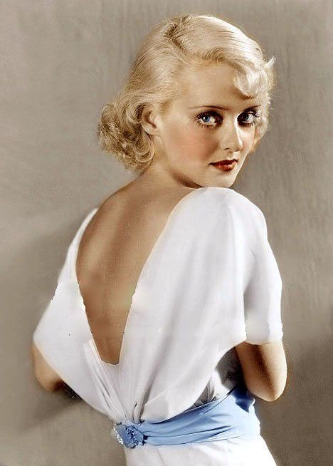 Bette Davis in the 1930's.