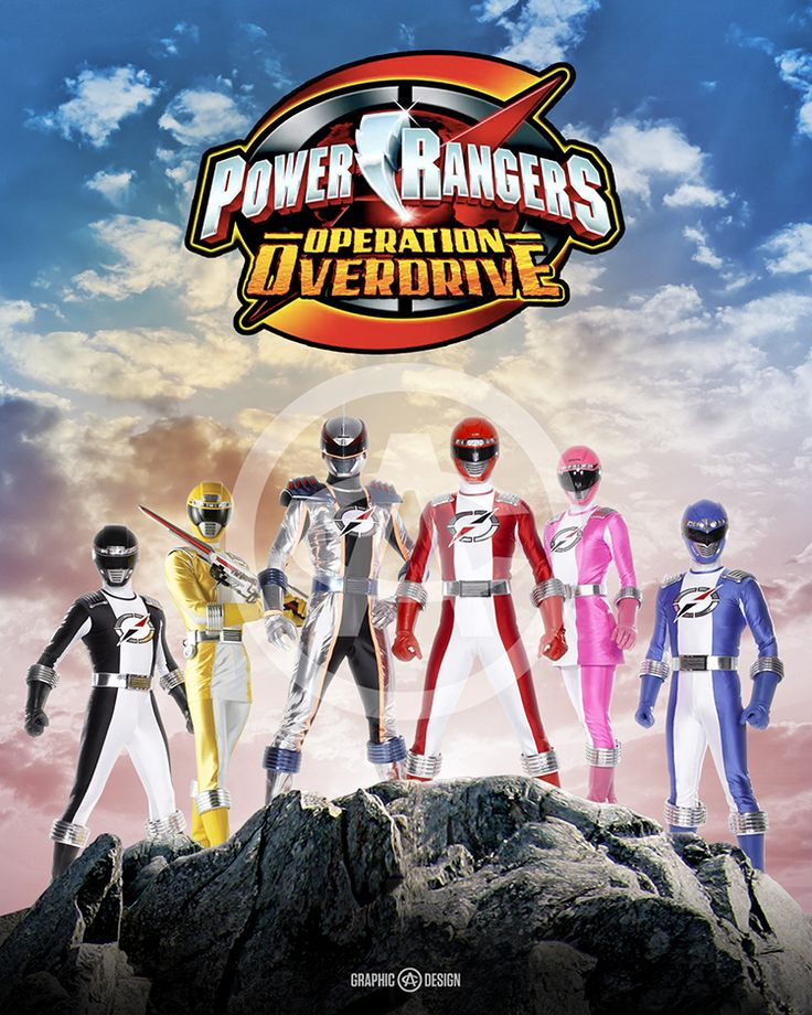 8+x+10+glossy+print+of+the+legendary+Power+Rangers+Operation+Overdrive.