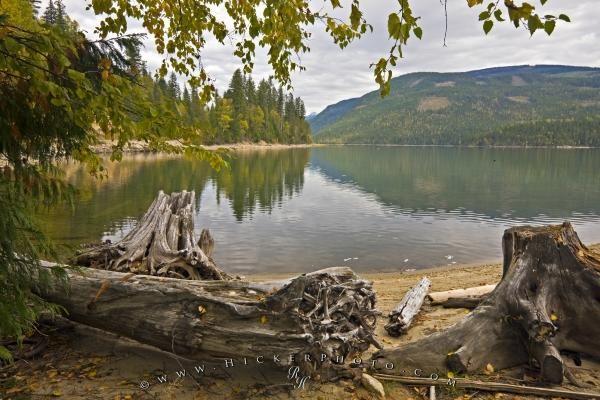 Photo of scenic Sugar Lake in the Okanagan, British Columbia, Canada.