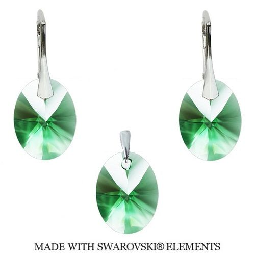 Swarovski set Oval Erinite 12 mm Divine Jewellery eshop