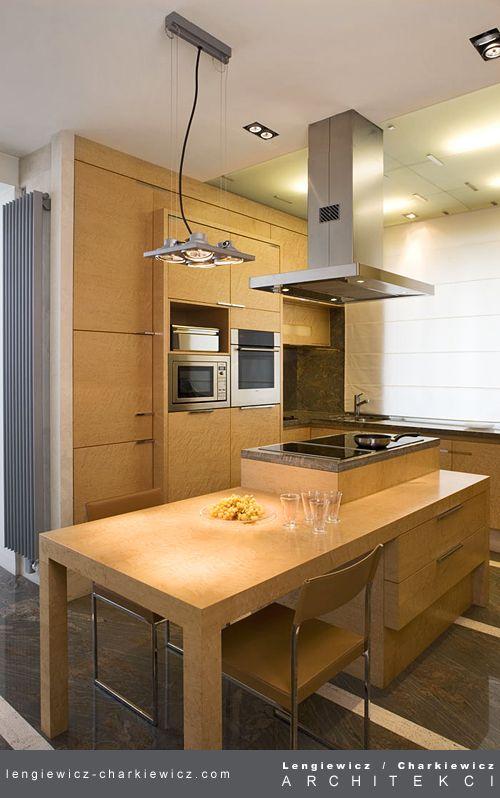 Apartament w Warszawie. Kuchnia. Projekt i realizacja: lengiewicz-charkiewicz.com #kitchen