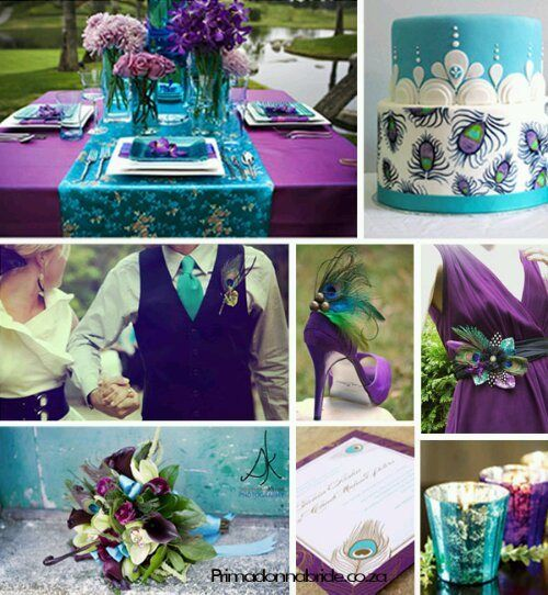 purple and teal wedding-- without all of the peacock