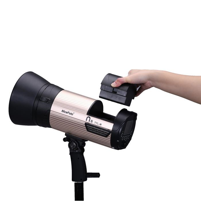 Аккумуляторный моноблок NiceFoto N6 TTL-M + синхронизатор TX-C02 (TTL режим, 600 Дж. для Canon)