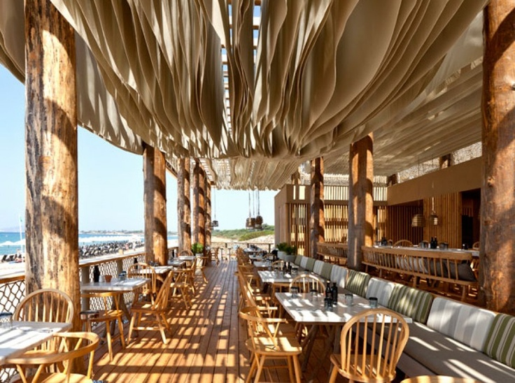 barbouni is a restaurant on the beach part of the costa navarino in greece the design project carried out by k studio has been selected as shortliest - Multi Restaurant Design